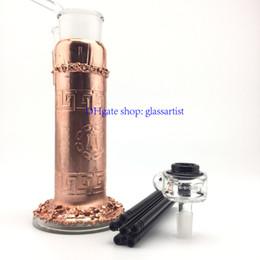 Wholesale copper plating process glass bong crooks glass bong arm prec bubbler