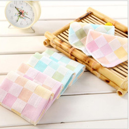 Wholesale 26cm cm Baby Bath Towels Cotton Gauze Solid New Born Baby Towels Ultra Soft Strong Water Absorption Piece