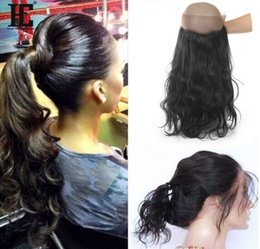 22x4x2 360 Lace Frontal Closures Body Wave Ear To Ear Lace Frontal With Baby Brazilian Peruvian Malasian Indian Virgin Human Hair