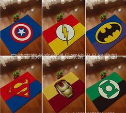 Wholesale New Doormat Area cm Superman Batman Captain America Animation Heroes Series Bedroom Carpets Super Soft Mats Cartoon Floor Door Rugs