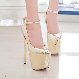 New Ultra fine with 19 cm heels for women's shoes serpentine gold silver sexy clubs appeal shoes