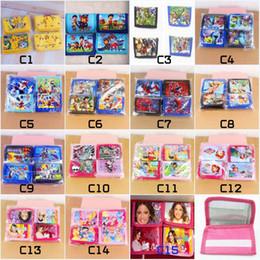 Wholesale New Cartoon Style PAW PATROL Kids Purse paw patrol snow slide Wallet super heros boys and girls Purse Kids Birthday Children Gift