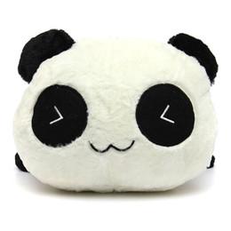 """Oreillers panda en peluche à vendre-De haute qualité mignon 45cm 17 """"Peluche peluche douce Jouet Animal Cute Panda Oreiller Sellette cadeau d'anniversaire blanc + noir"""