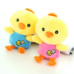 Wholesale Cute Yellow chicken Stuffed animal soft plush toys Creative Gifts for kids baby
