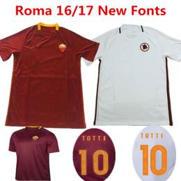 Wholesale 16 Soccer Jerseys Roma camisetas de futbol TOTTI DE ROSSI Calcio Maglia Italia Serie A COLE CASTAN LJAJIC PJANIC Grey Shirts Top Quality