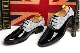 Wholesale Newest Men s Wedding Shoes Mens Pointed Design Leather Shoes Unique Men Casual Shoes Lace up Oxford Evening Formal Dress Shoes