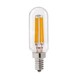 Wholesale T25 W Retro LED Filament Light Bulb Tubular Clear Style Decorative Lights E12 E14 Base Dimmbale