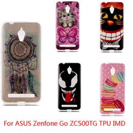 For Asus Zenfone 2 Laser 5.5 ZE550 LG K10 ASUS Zenfone GO ZC500TG soft Silicone Owl TPU IMD Gel Phone Case Cover