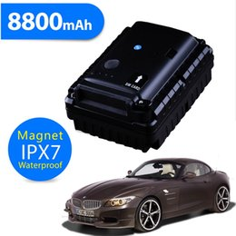 Wholesale Big Battery mAh Power Bank GPS Tracker GSM SMS Alarm GPRS Real Time Tracking Locating Listening For Assets Car Vehicles