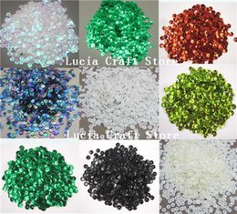 Escama de lentejuelas en Línea-10g / porción (aprox) 1000pcs opciones multi de los colores del arco iris de 6 mm de la escama de la Copa de lentejuelas Decoración Confetti 24010006 (6D10g)