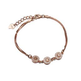 Alphabet Letter M 925 Sterling Silver Bracelet, Name Bracelet for Girls, Jewelry Gifts Wholesale- MB00058