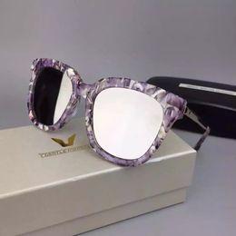 2017 gafas de sol púrpura 2016 Gafas de sol de Monster Abaente Gafas de Sol de Oro Púrpura Gafas de Sol Unisex Nuevo con Caja barato gafas de sol púrpura