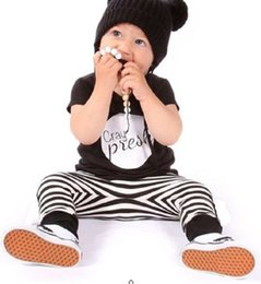 Boys Childrens Clothing Sets Newborn Babies Striped Short Sleeve T-Shirts And Pants Lots Cute Baby Boy Clothes