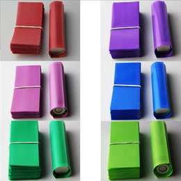 Wholesale 18650 battery mm Shrink wrap Tubing PVC Heat insulation Re wrapp film for sony vtc4 vtc5 samsung LG he4 and ultrafire series battery