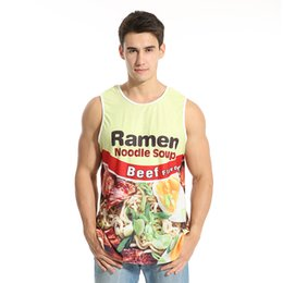 Wholesale d print beef ramen stringer bodybuilding kevin durant usa basketball allen iverson jersey gymshark gym clothing men tank top