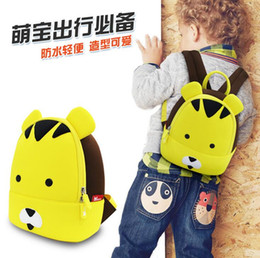 Wholesale NOHO Kid Backpack Children Cute Cartoon Bag For Boys Girls Character Christmas Birthday Gift Yellow Tiger Backpack School Lunch Bag Rucksack