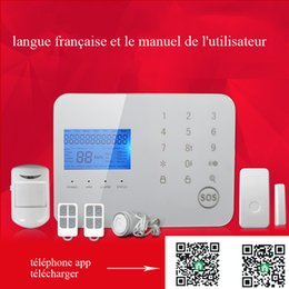 Wholesale LCD digital display auto calling SMS phone App remote control home security device alarme console with pir
