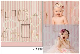 Wholesale 5x6 ft x200cm Gorgeous Picture Frame Photography Backdrop photography Backgrounds For Photographic For Baby S