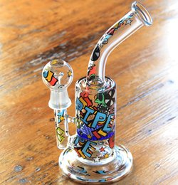 Wholesale SCRAWL BONG NEWS SKETCH WATER PIPES DESIGNS SKETCH BONG SKETCH DESIGNS ARTS WATER PIPE OUCHKICK BONG RANDOM DESIGH PATTERN WITH A GLASS BOWL