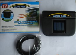 Wholesale 2016 Auto Fan Cool Solar Powered Car Auto Air Vent Cool Fan Cooler Ventilation Radiator System with Package Box