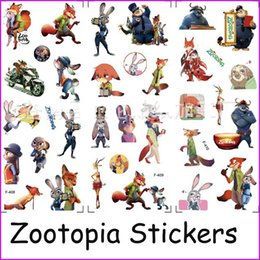 Zootopia Stickers 3D cartoon Bubble stickers Judy Nick Wall Stickers baby Kids Movie Animals Refrigerator Stickers Decorative Sticker