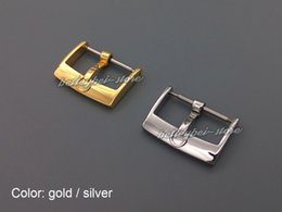 Wholesale 18mm Silver or gold Polished Stainless Steel watch band pin buckle clasp for omega