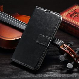 For Samsung Galaxy S7 edge A3 A5 A7 2016 A9 Iphone 6 plus Crazy Horse Skin Leather case retro Wallet Stand Cover