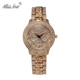 Wholesale 2016 Miss Fox Fashion Original Design Ladies Wristwatch Perspective Luxury Diamond Quartz Watches Waterproof Electronic Watch Round Watch
