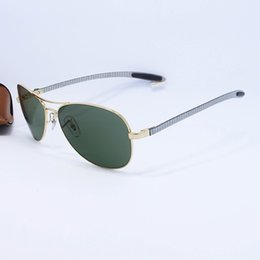 Wholesale 2016 Top Brand Pilot Sunglasses Men Women Gold Alloy Metal Frame Gold Glass Gold Sun Glasses Carbon Fibre Legs mm Original Case Box