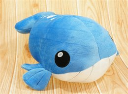 Wholesale Wailord toy plush hasbro retail soft blue doll Wailord toy pocket plush Cuddly stuffed animals poke child love toys baby