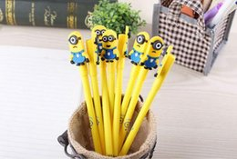 Wholesale Stationery Gifts For Children - Minions Despiable Me Ballpoint Pens Cartoon Cute Stationery Gel Pen Papeleria Student Office Prize Children Gift for Christmas Dropship