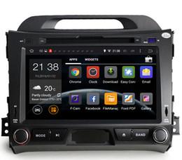 Consola gris en venta-Reproductor de DVD del coche de la base del patio del androide 5.1 para el sportage r / Sportage 2010 de KIA 2014 2011 2012 2013 2015 radio BT reproductor de DVD de los gps del coche