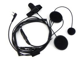 Full Face Motorcycle Helmet Headset Earpiece for Portable Two Way Radio Baofeng Walkie Talkie UV-5R UV-5RE Plus BF-888S UV-B5