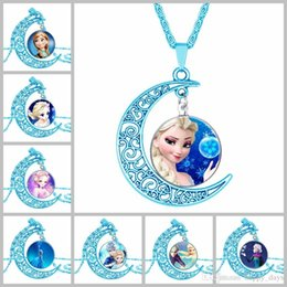 Wholesale 2016 Ornaments Blue Moon Ice And Snow Witch From Nepal Time Jewel Necklace Best Sellers Flower Stainless Steel Jewelry