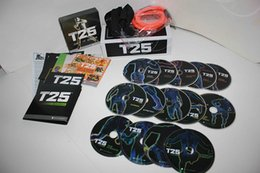 Wholesale 2016 workout T25 DVDs with accessories fitness Video health training DVD INCLUDED Fitness workout DHL