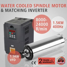 Wholesale 1 KW VFD Kit W KW Water Cooled Spindle Motor KW Water cooling Spindle Motor Matching Inverter