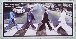 Wholesale 15x30cm Abbey Road The Beatles Tin Sign Plaque Bar Pub Tavern Wall Decor Retro Metal Poster