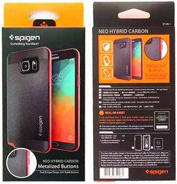 Wholesale 2016 SGP Carbon Hybrid TPU PC Case Slim Armor Back Cover for iPhone s plus SE S amsung S7 S6 Edge Plus Note7 On5 G530 J5 LG G5 LS775