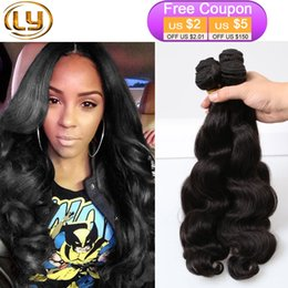 Wholesale Cheap 1pcs Hair Extension - 7A Body Wave 3 Bundles Body Wave Hair Cheap Peruvian Body Wave Bundles Super Soft Hair Extension Buy 3Lot Get 1Pcs Free