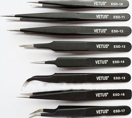 Wholesale bga antistatic tweezers for bga soldering repair VETUS esd tweezer