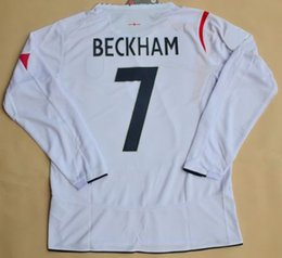 Retro jersey Beckham 2006 Jerseys long sleeves shirt