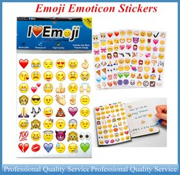 Emoji Emoticon Stickers Newest Updated Versions of Images Emoji Stickers Pack for iphone imac 20pcs per bag 960 Stickers DIY OUT059