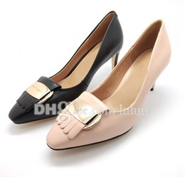 Wholesale High quality new Luxury Brand High Heels Women Pumps Brand New Design Singles shoes Pointed Toe Buckle pumps Sequined Women Party shoes
