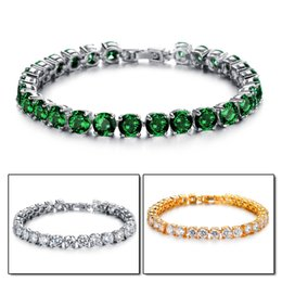 Wholesale Copper Platinum Bracelet AAA Cubic Zirconia Inlaid Perfect Artificial Shine Colorful Jewerly Elegent Luxury Superior Quality Girls Accessory