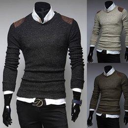 Wholesale 2015 Apparel Men s Pullover Cotton Sweater Pullovers Designer Mens Sweaters Crochet Patterns Men Sweaters