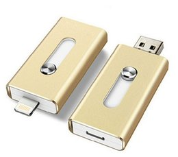 Wholesale The best iPhone iPad USB flash drives with Lightning connectors External Storage Memory for iPhone iPad