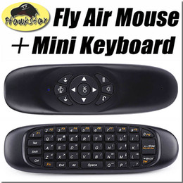 Wholesale C120 Fly Air Mouse Remote Control Mini Wireless QWERTY Keyboard Game Controller For Android TV Box Set Top Box Mini PC Gyroscope