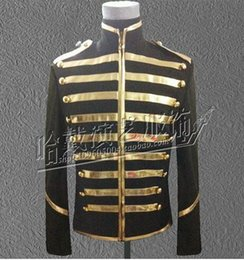 Men in Europe and the han edition fashionable nightclub singer costumes stage performance clothing zipper stripe coat S - 5 xl