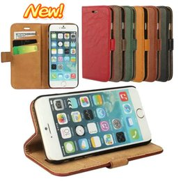 Wholesale IPHONE plus bark pattern flip phone purse holster APPLE6 pure color mobile phone cases