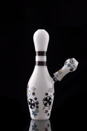 Wholesale 2016 NEW WATER PIPE WHITE COLORFUL DESIGNS SKETCH GLASS BONG SKETCH DESIGNS ARTS BONG CHEECH GLASS SMOKING PIPE RANDOM DESIGH WITH NAIL